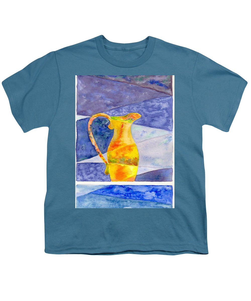 Still Life Youth T-Shirt featuring the painting Pitcher 1 by Micah Guenther