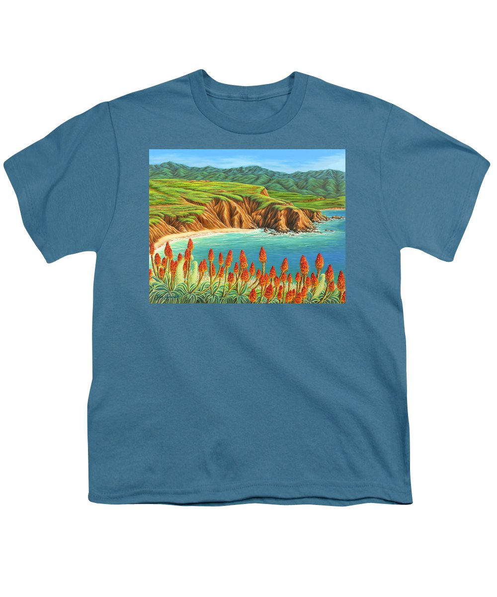 Ocean Youth T-Shirt featuring the painting San Mateo Springtime by Jane Girardot