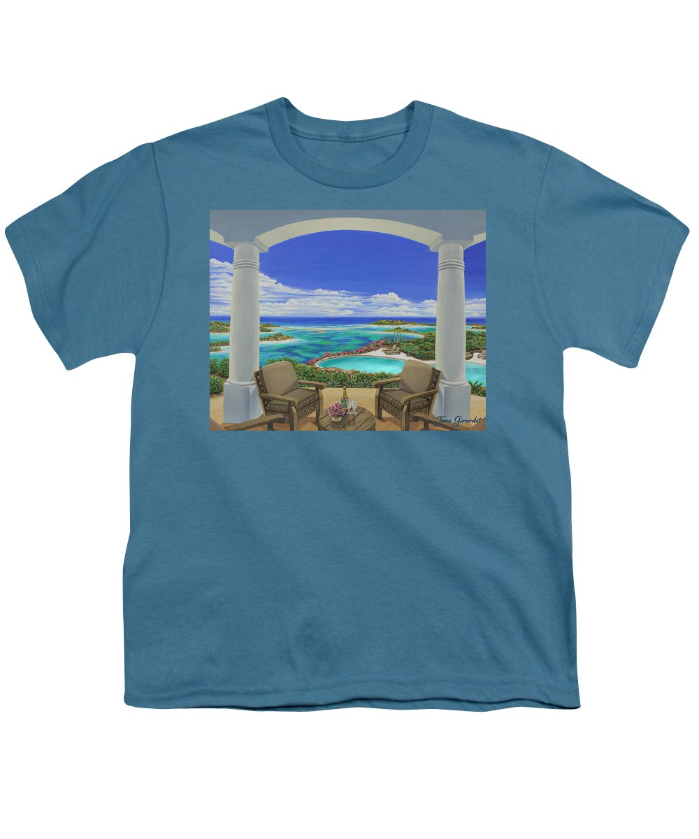 Ocean Youth T-Shirt featuring the painting Vacation View by Jane Girardot