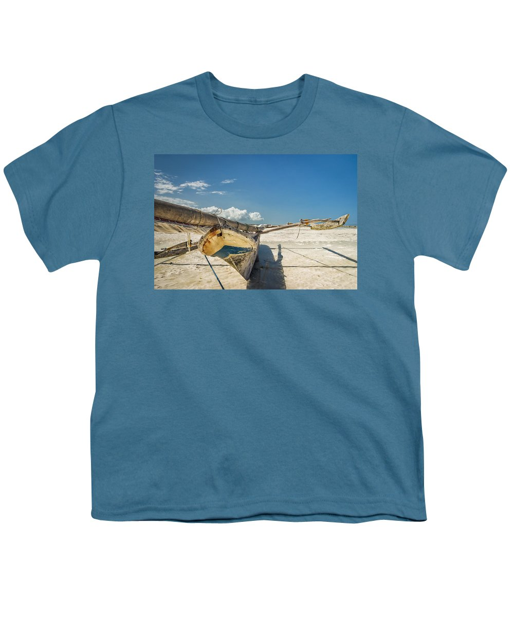 3scape Photos Youth T-Shirt featuring the photograph Zanzibar Outrigger by Adam Romanowicz