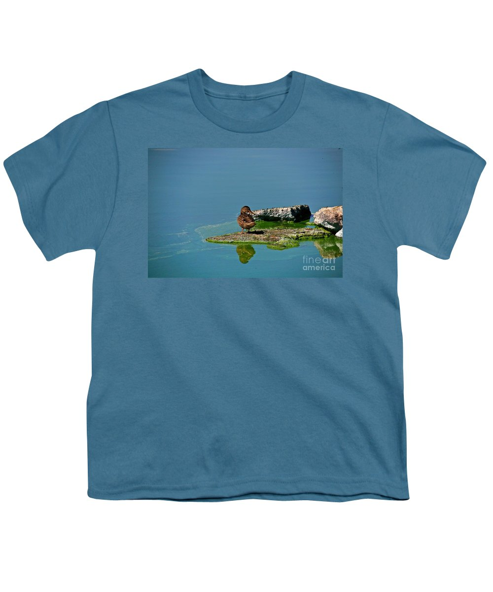 Duck Youth T-Shirt featuring the photograph Alone by Robert Pearson