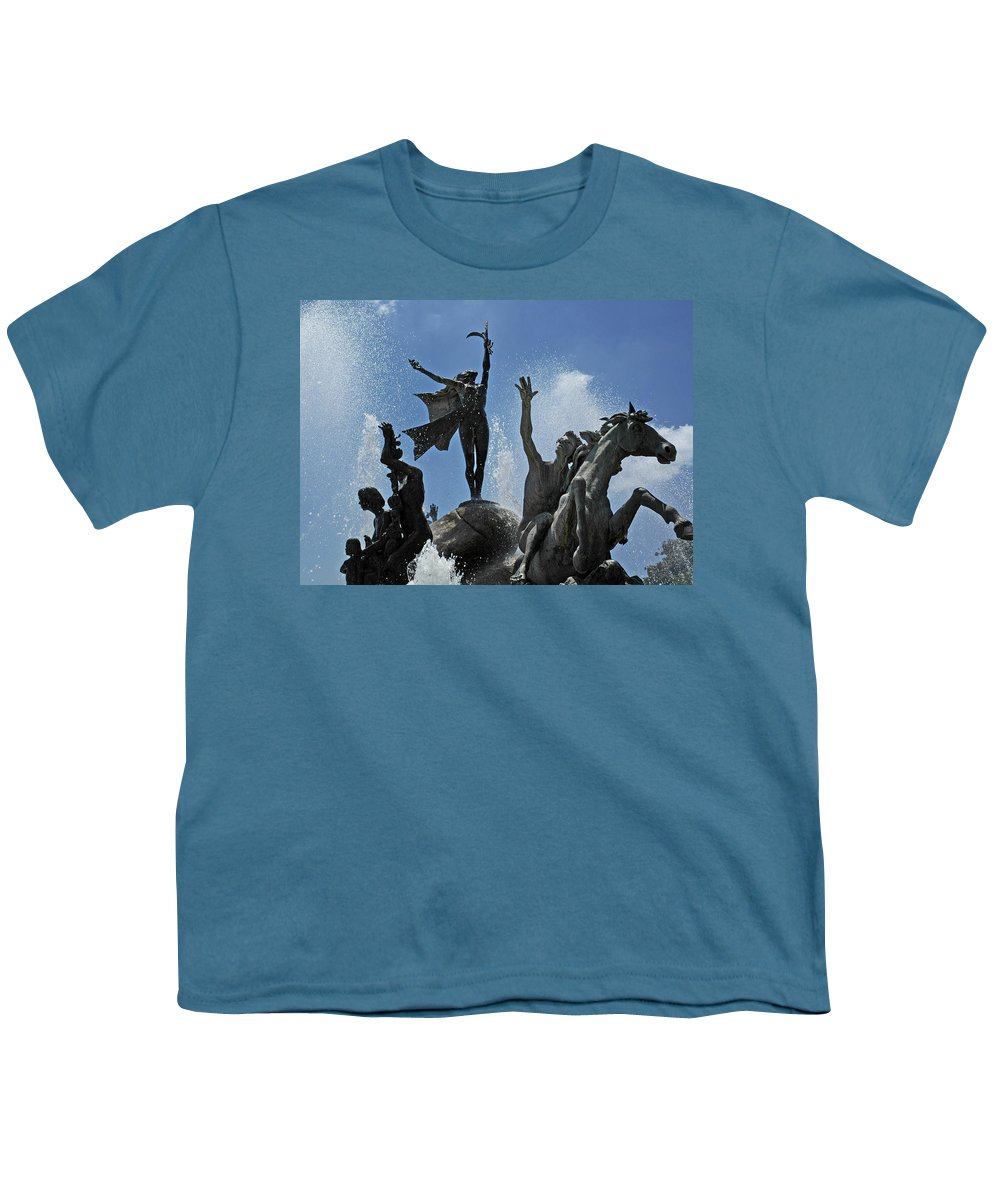 Statue Youth T-Shirt featuring the photograph Old San Juan Puerto Rico by Tito Santiago
