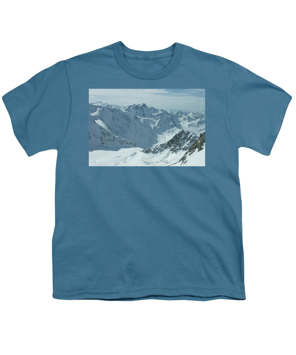 Pitztal Glacier Youth T-Shirt featuring the photograph Pitztal Glacier by Olaf Christian