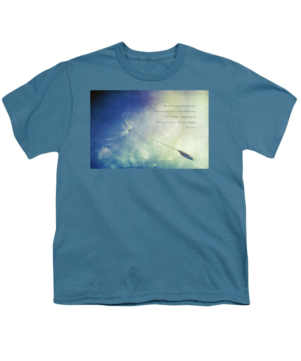 Dandelion Youth T-Shirt featuring the photograph A Photographer's Eye by Joy Gerow
