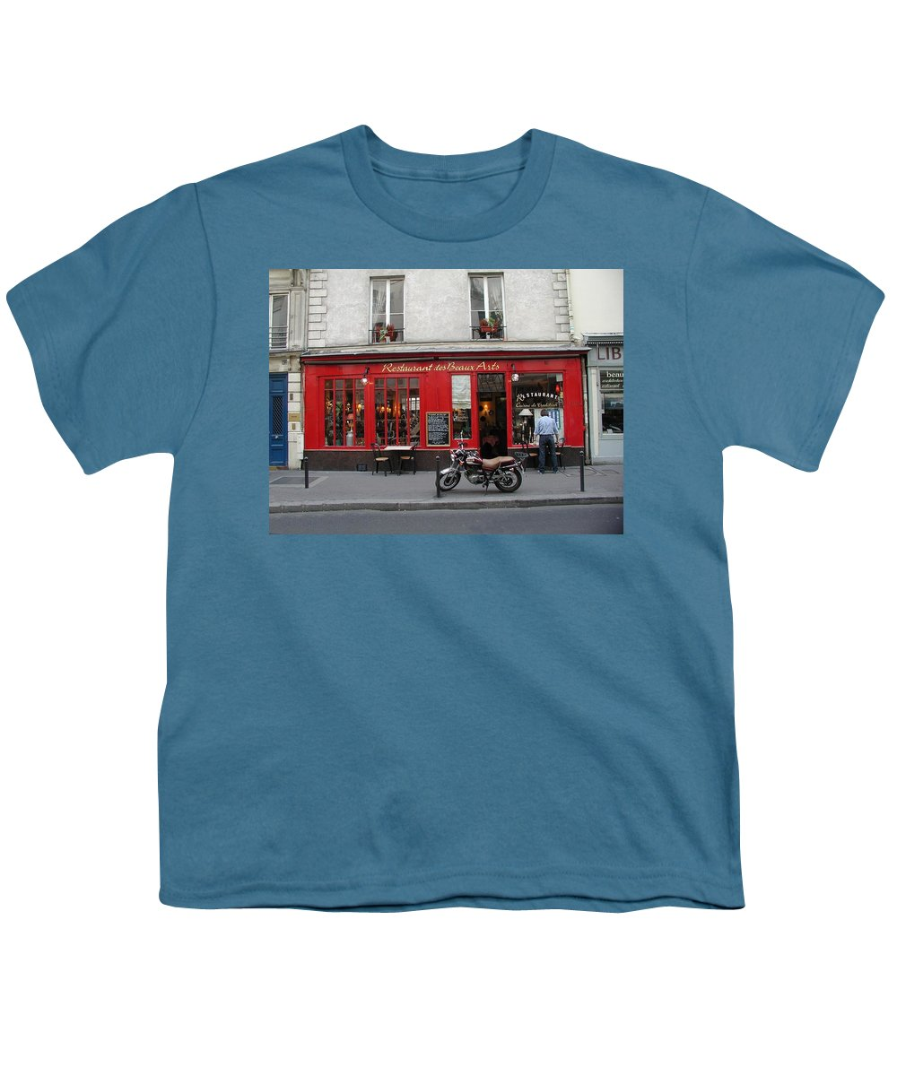 Red Youth T-Shirt featuring the photograph A Stop Along The Journey by Tom Reynen