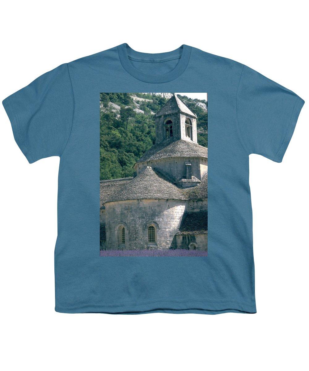 Abbeye De Senanque Youth T-Shirt featuring the photograph Abbeye De Senanque by Flavia Westerwelle