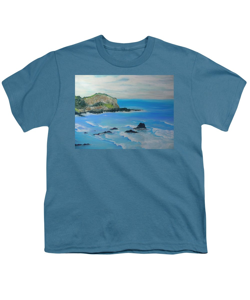 Hawaii Youth T-Shirt featuring the painting Aloha by Melinda Etzold