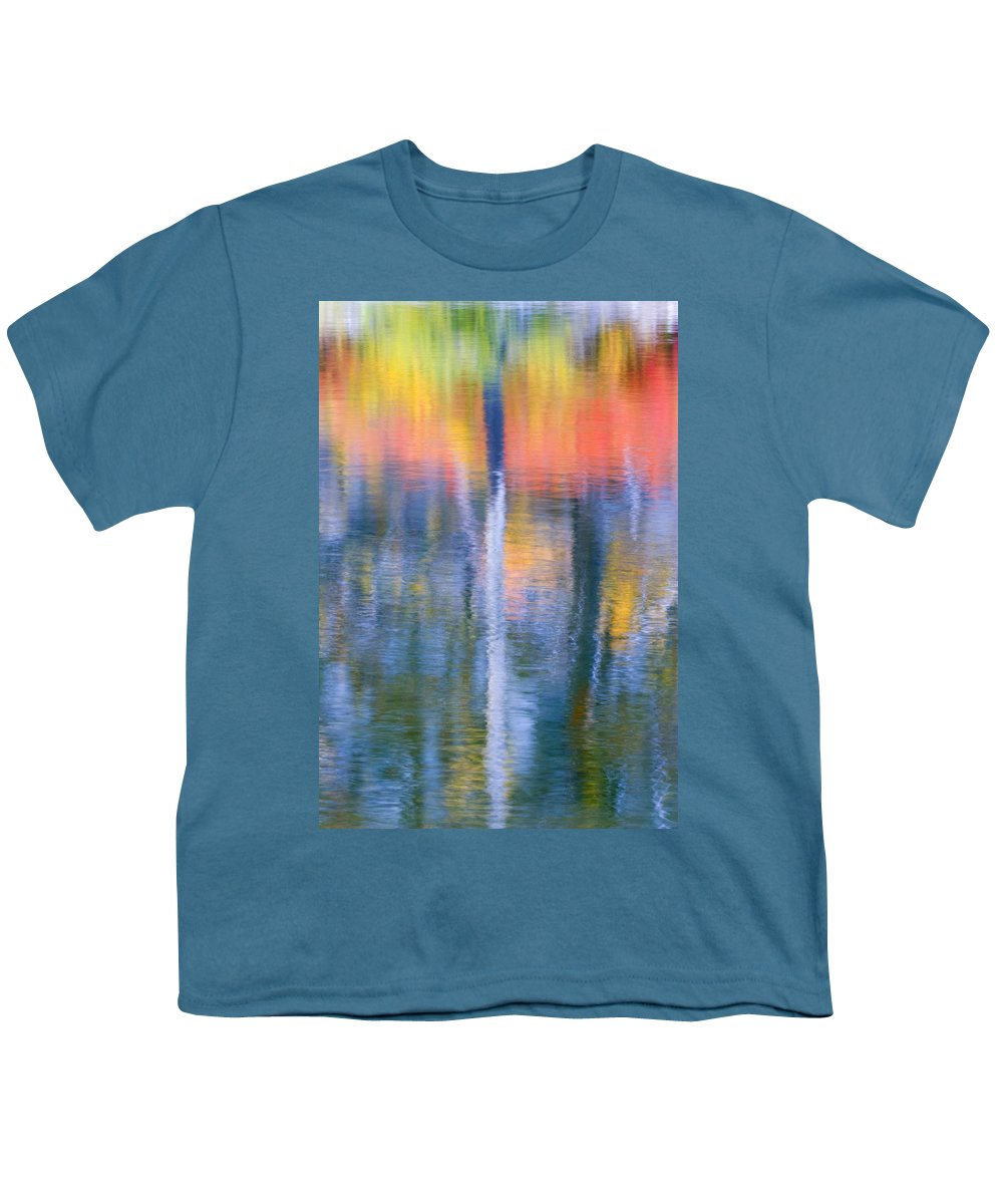 Reflection Youth T-Shirt featuring the photograph Autumn Resurrection by Mike Dawson