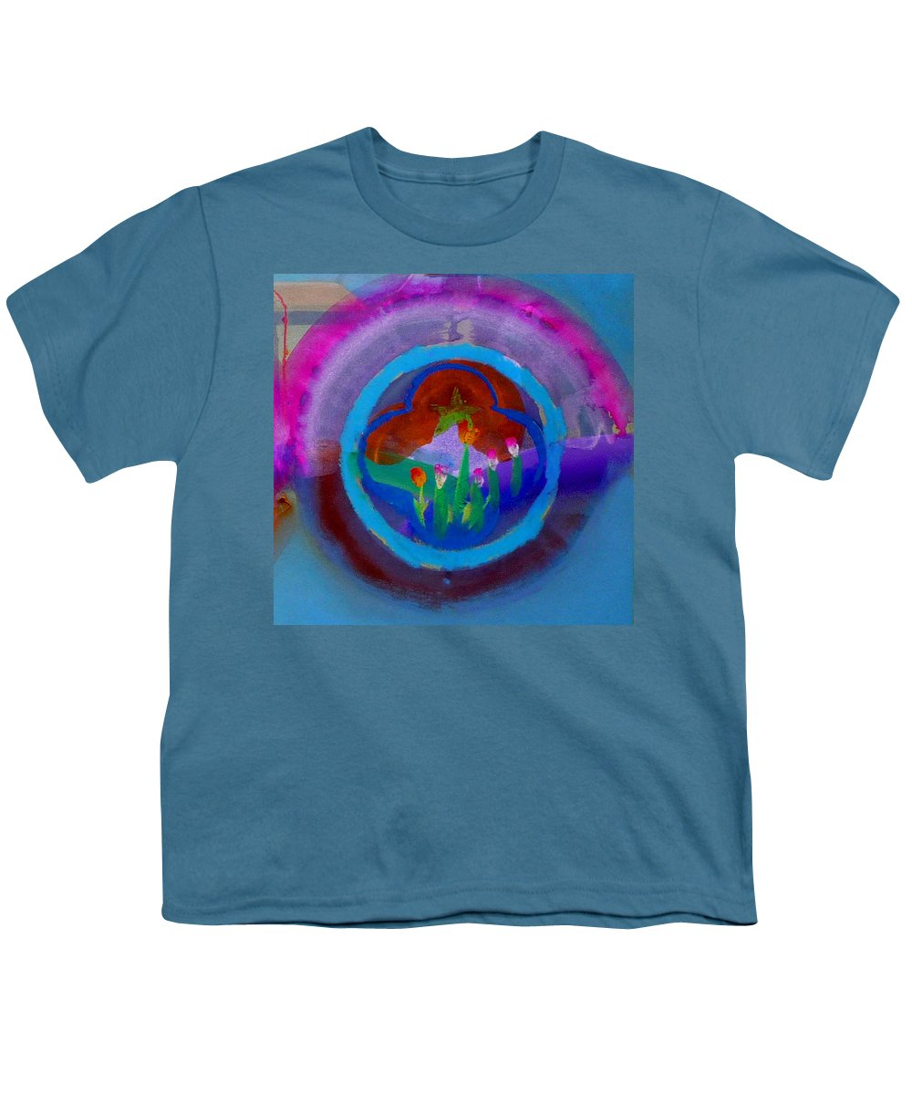 Love Youth T-Shirt featuring the painting Blue Embrace by Charles Stuart