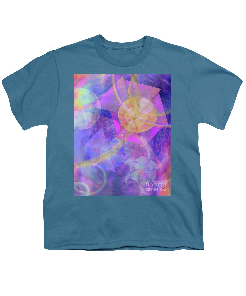 Blue Expectations Youth T-Shirt featuring the digital art Blue Expectations by John Beck