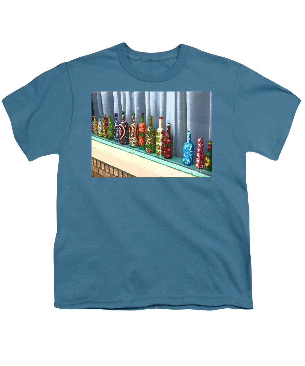 Bottles Youth T-Shirt featuring the photograph Bottled Up by Debbi Granruth