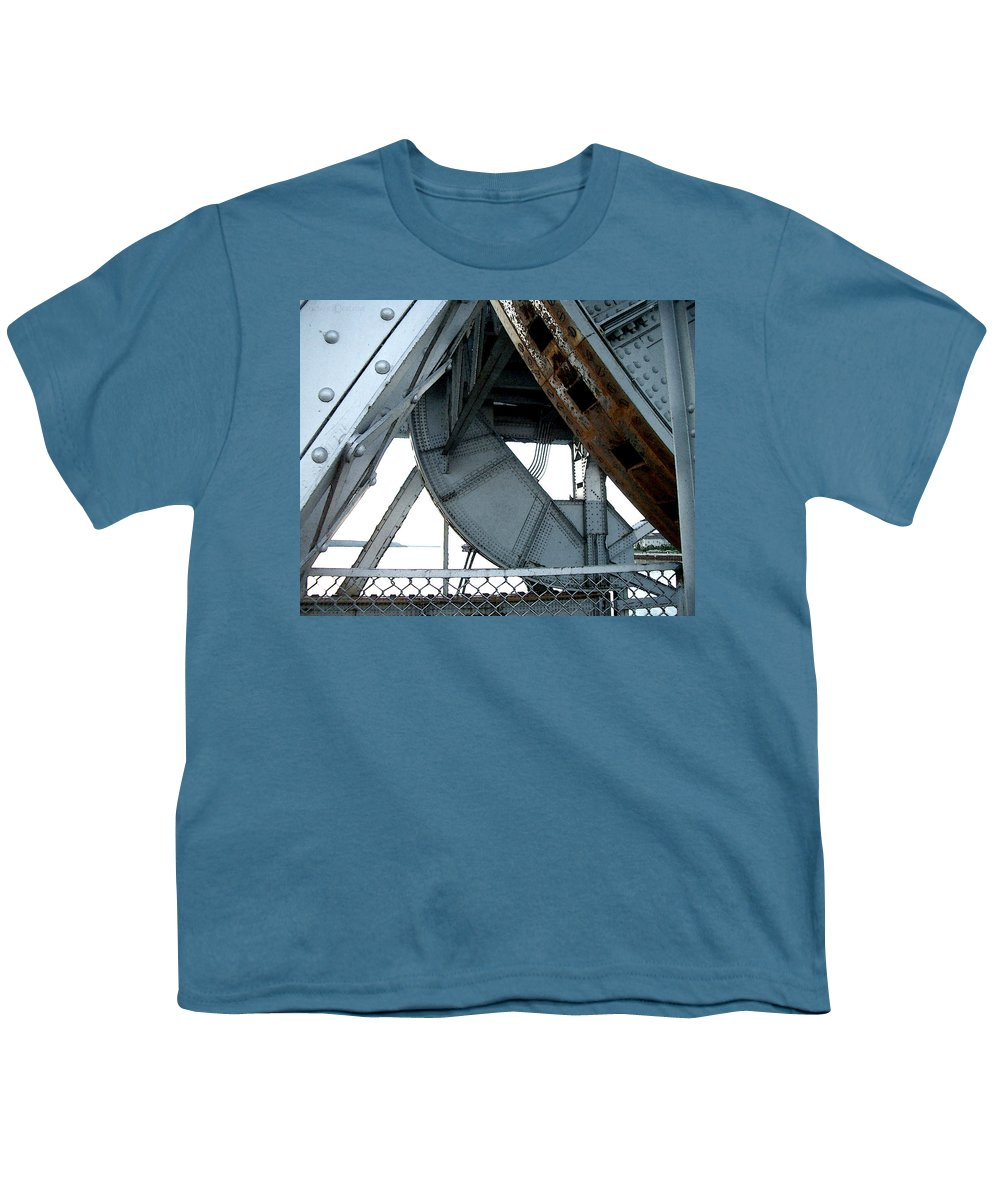 Steel Youth T-Shirt featuring the photograph Bridge Gears by Tim Nyberg