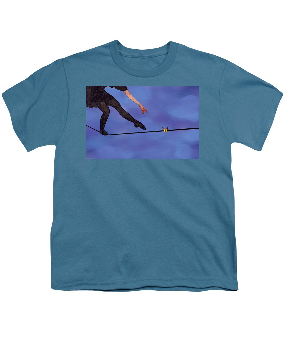 Surreal Youth T-Shirt featuring the painting Catching Butterflies by Steve Karol