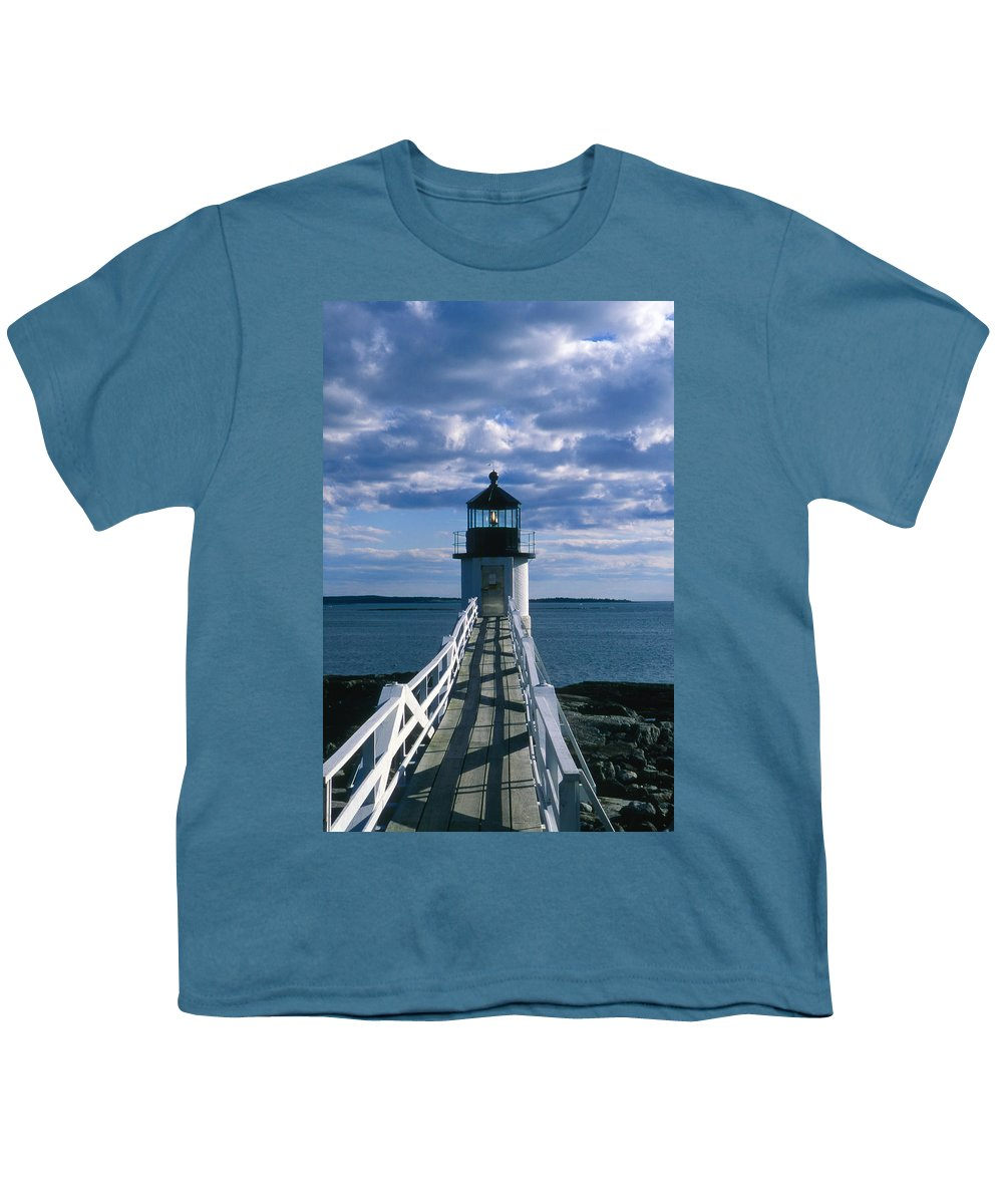 Landscape Lighthouse New England Marshall Point Light Port Clyde Youth T-Shirt featuring the photograph Cnrh0603 by Henry Butz