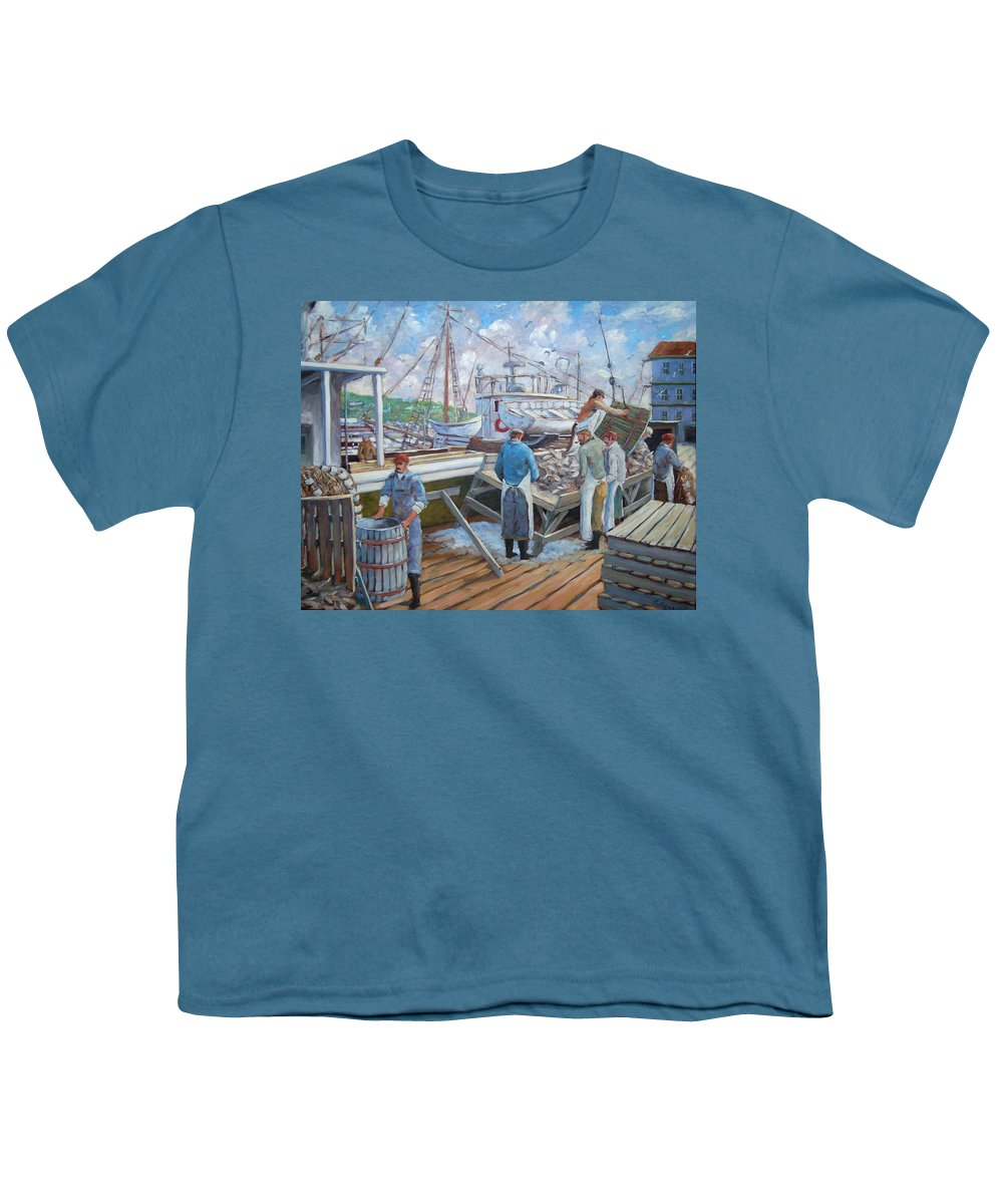 Cod Youth T-Shirt featuring the painting Cod Memories by Richard T Pranke