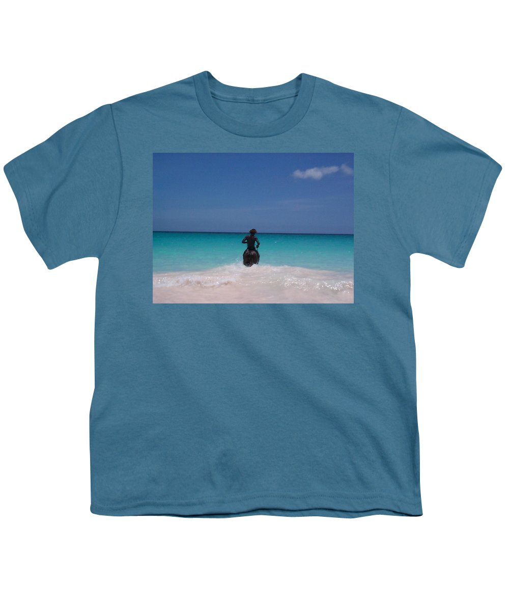 Charity Youth T-Shirt featuring the photograph Cool Off Man by Mary-Lee Sanders