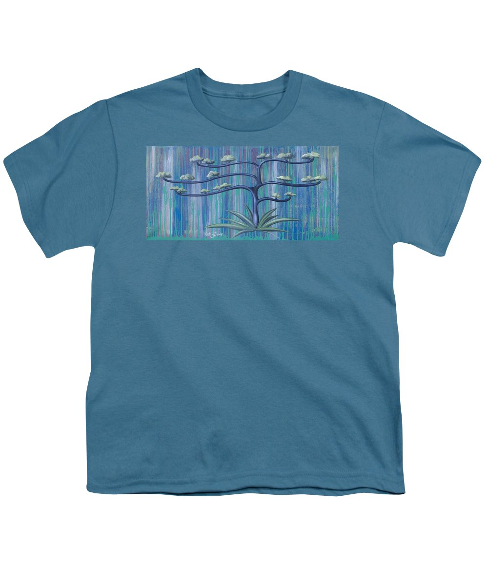 Tree Youth T-Shirt featuring the painting Cross Tree by Kelly Jade King