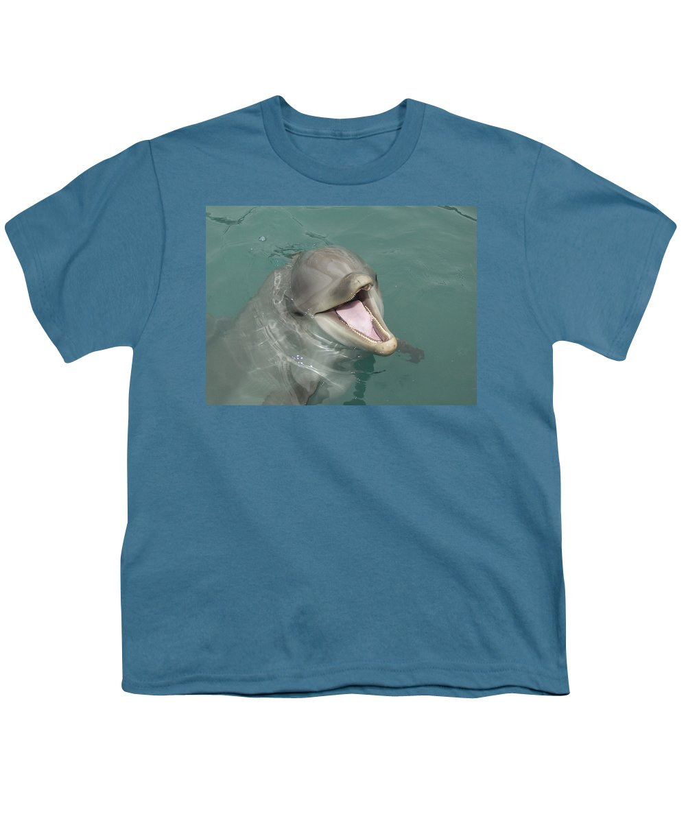 Dolphin Youth T-Shirt featuring the painting Dolphin by Sean M