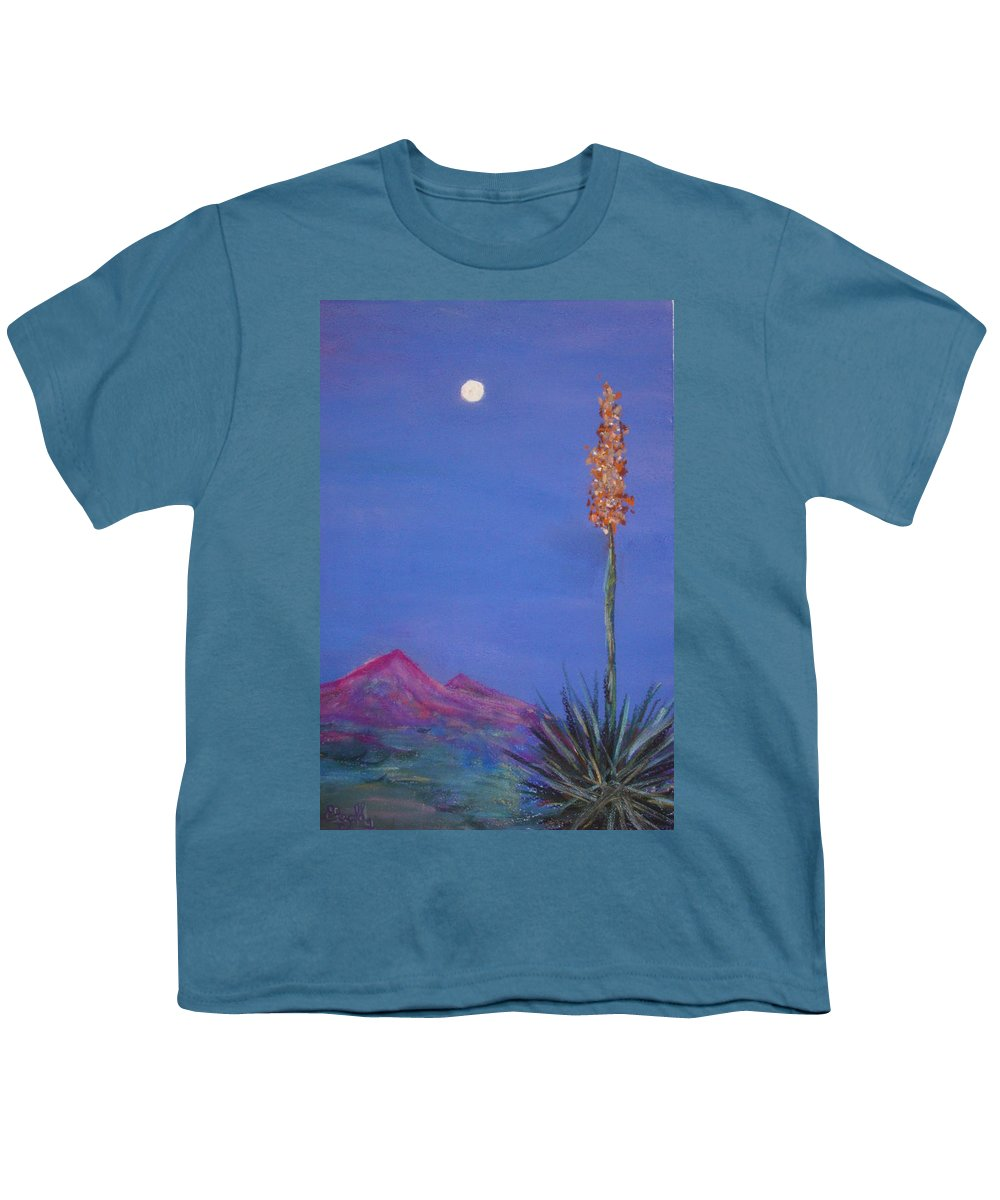 Evening Youth T-Shirt featuring the painting Dusk by Melinda Etzold