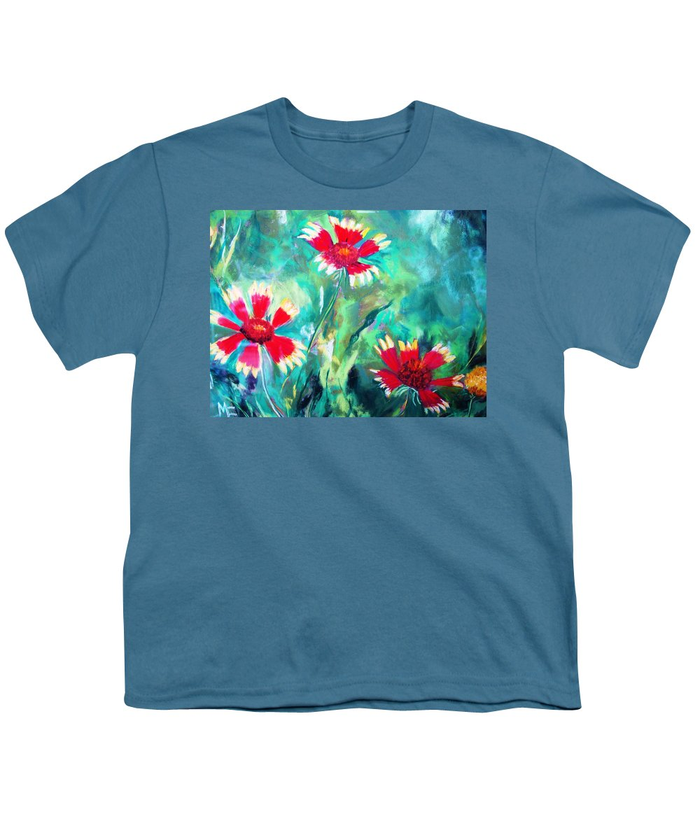Flowers Youth T-Shirt featuring the painting East Texas Wild Flowers by Melinda Etzold