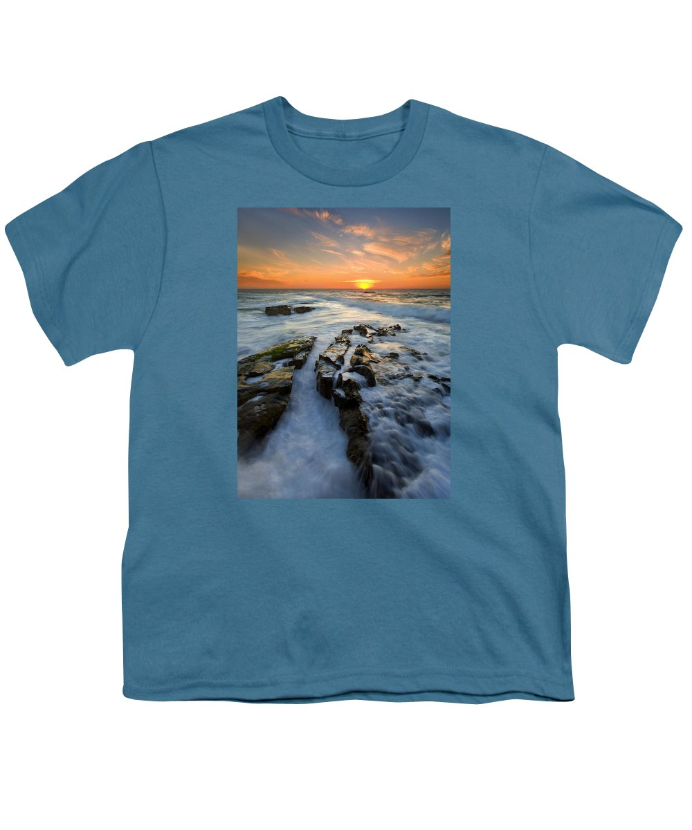 Sunset Youth T-Shirt featuring the photograph Engulfed by Mike Dawson
