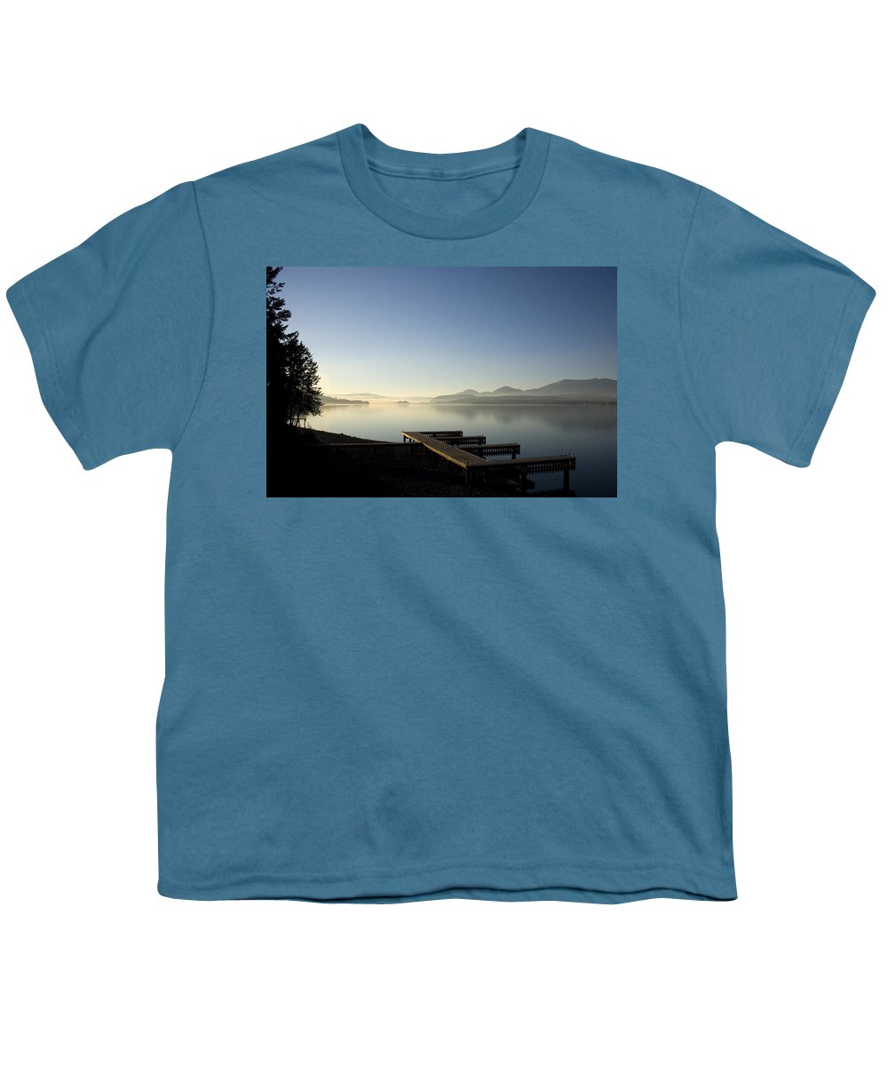 Landscape Youth T-Shirt featuring the photograph Fall Evening by Lee Santa