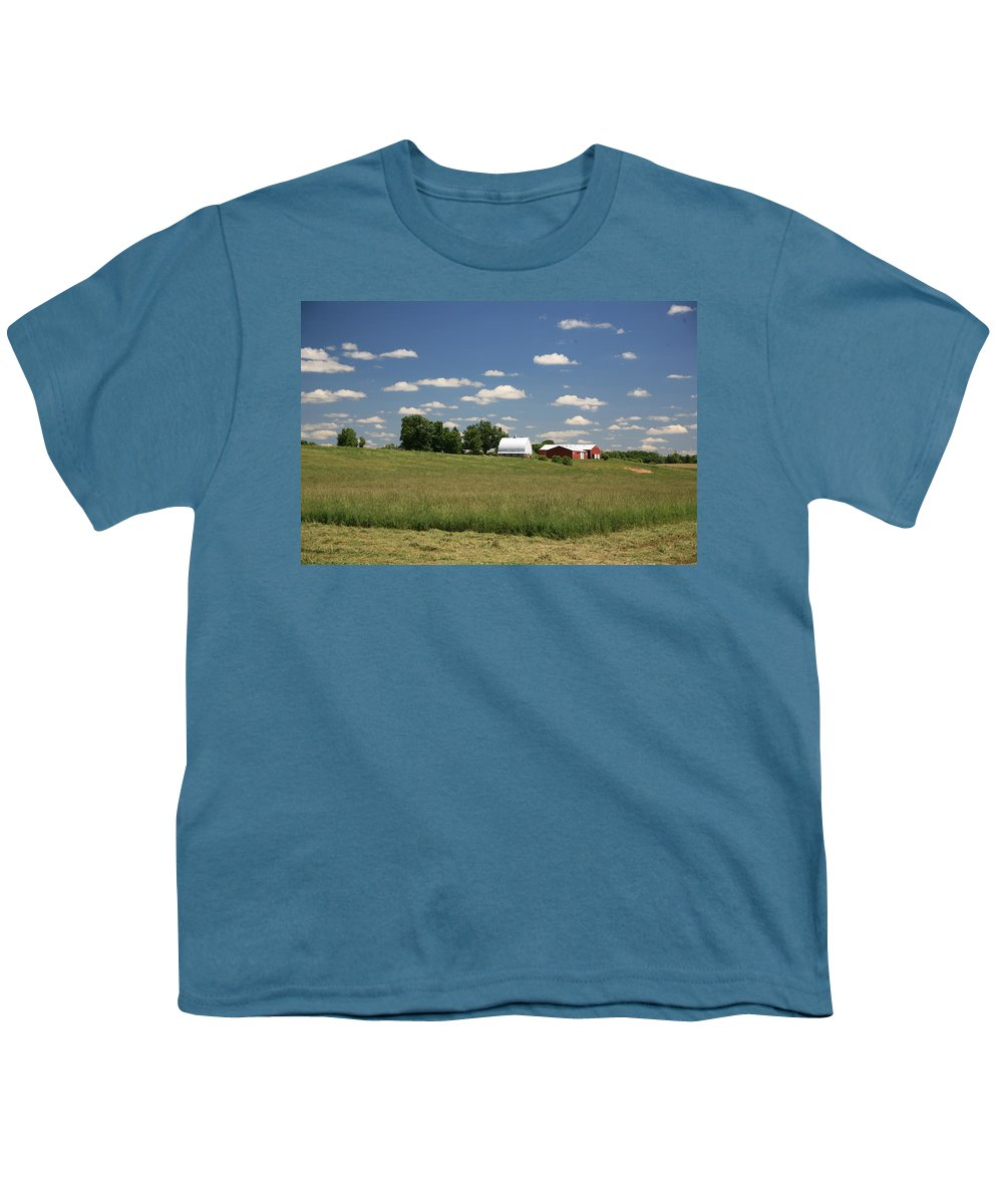 Farm Youth T-Shirt featuring the photograph First Cutting by Robert Pearson