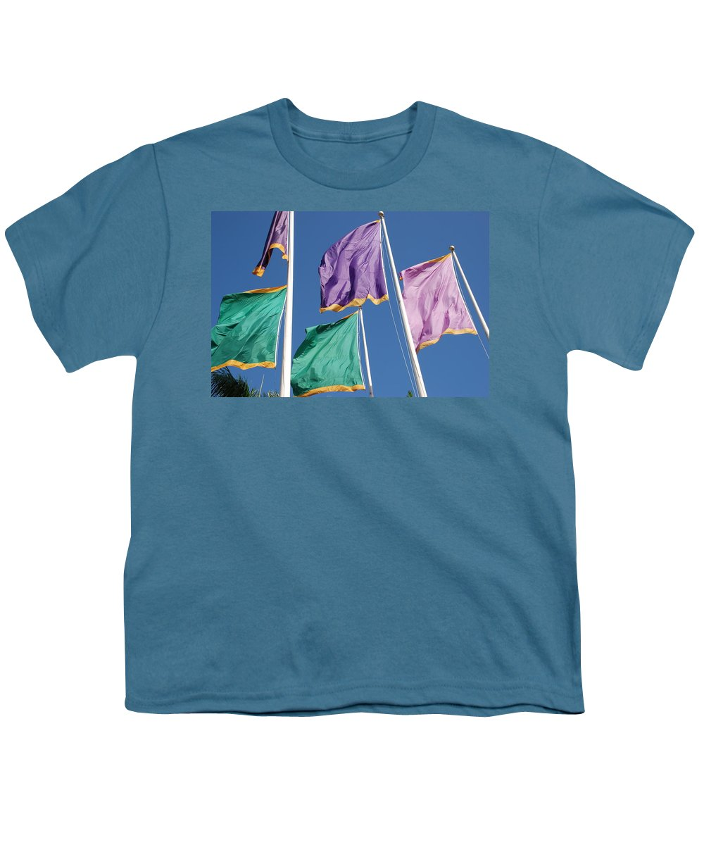 Flags Youth T-Shirt featuring the photograph Flags by Rob Hans