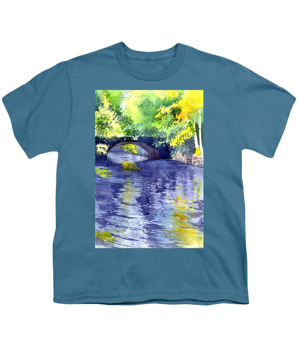 Nature Youth T-Shirt featuring the painting Floods by Anil Nene