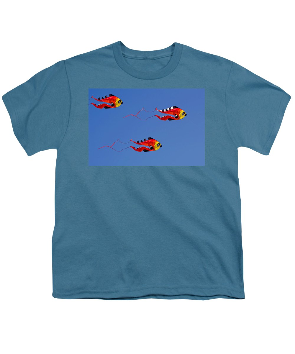 Clay Youth T-Shirt featuring the photograph Go Fly A Kite by Clayton Bruster
