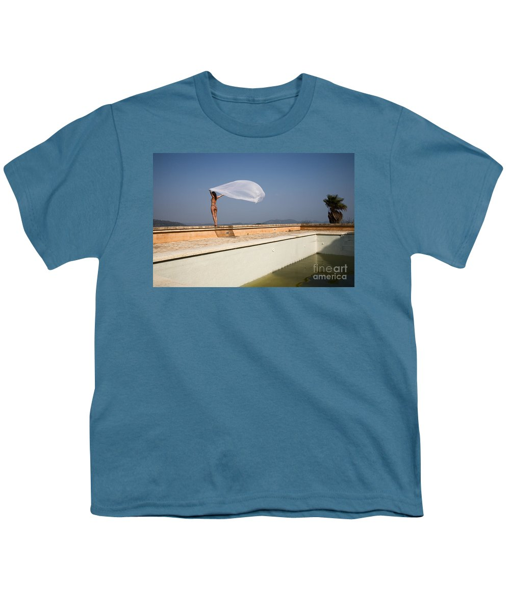 Sensual Youth T-Shirt featuring the photograph I Will Fly To You by Olivier De Rycke