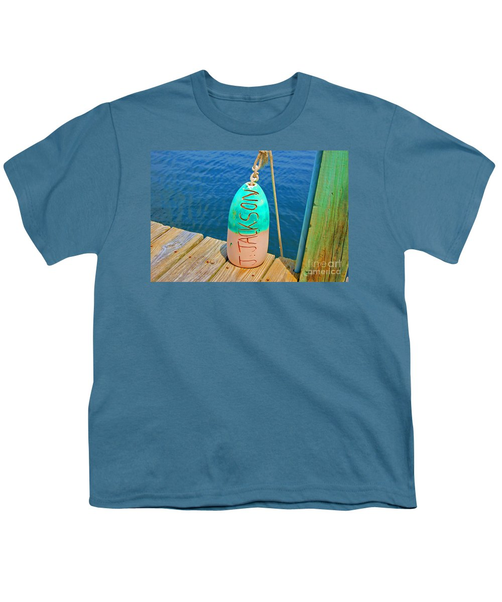 Water Youth T-Shirt featuring the photograph Its A Buoy by Debbi Granruth