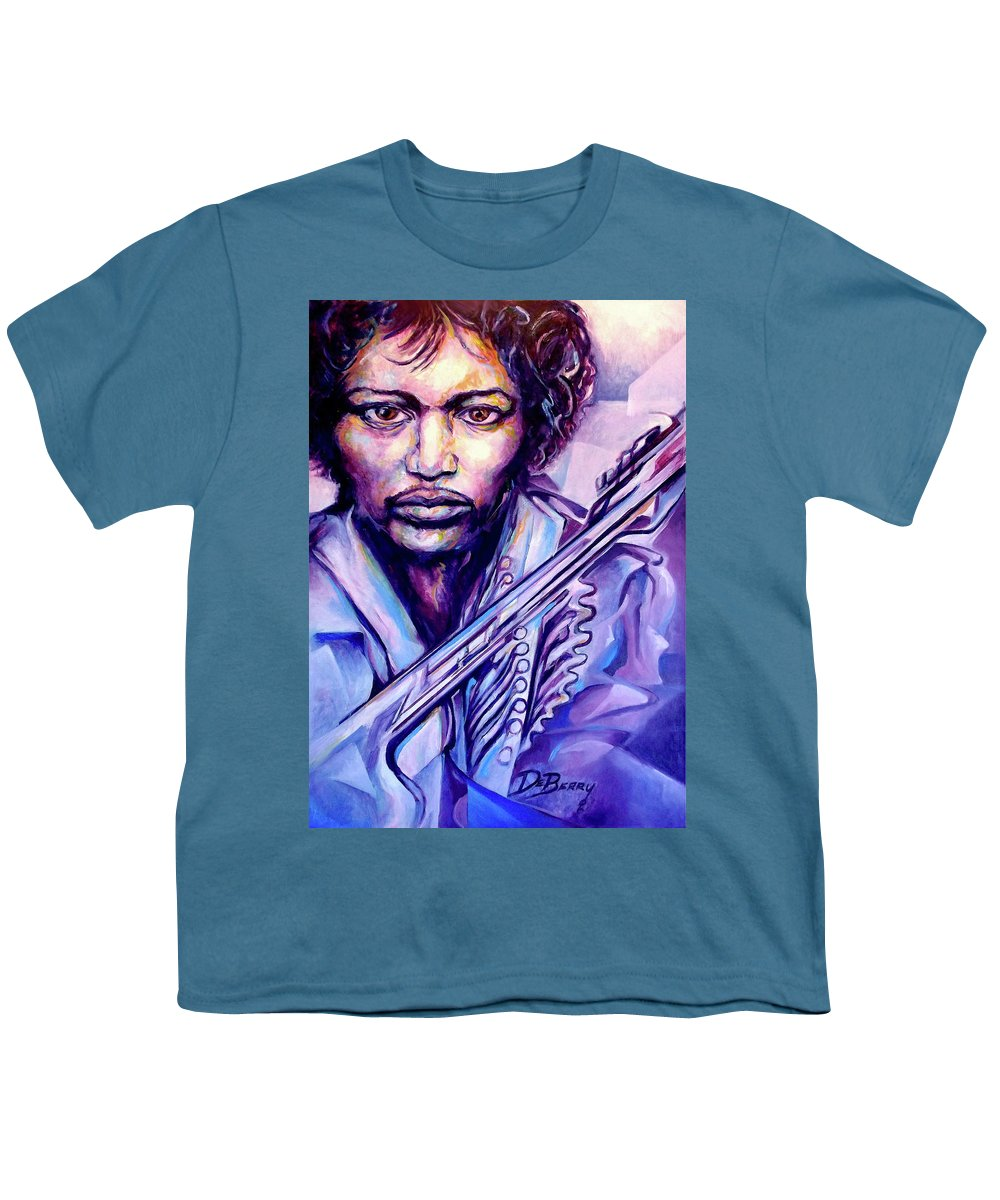 Youth T-Shirt featuring the painting Jimi by Lloyd DeBerry
