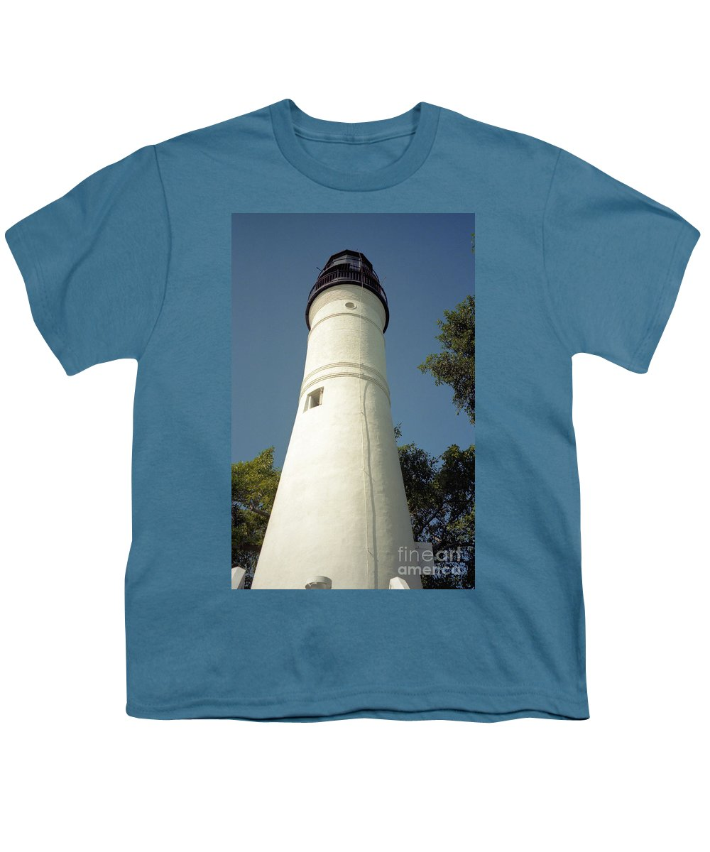 Lighthouses Youth T-Shirt featuring the photograph Key West Lighthouse by Richard Rizzo