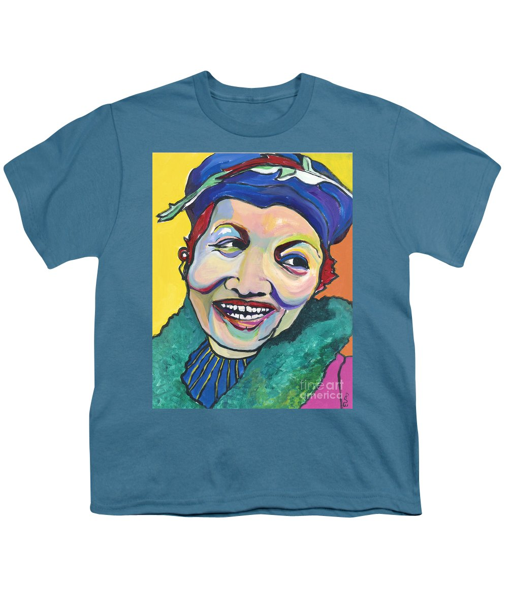 Hat Youth T-Shirt featuring the painting Koko Vivienne by Pat Saunders-White