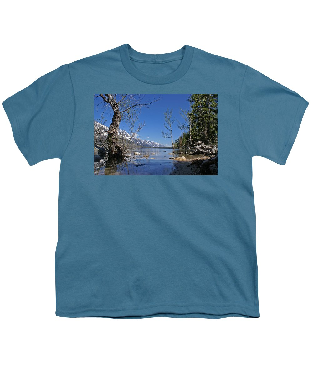 Lake Jenny Youth T-Shirt featuring the photograph Lake Jenny by Heather Coen
