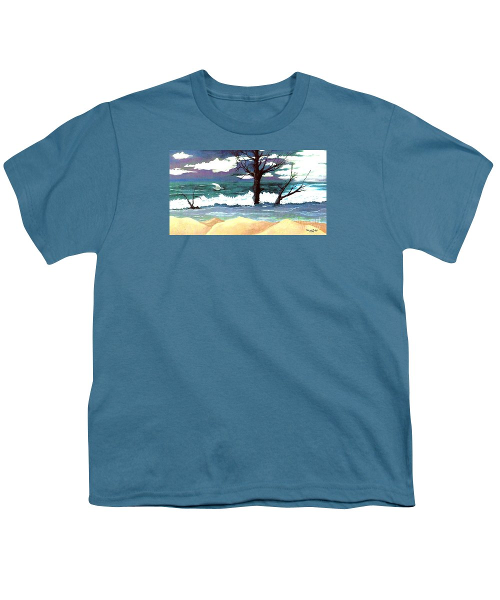 Original Watercolor Painting Youth T-Shirt featuring the painting Lost Swan by Patricia Griffin Brett