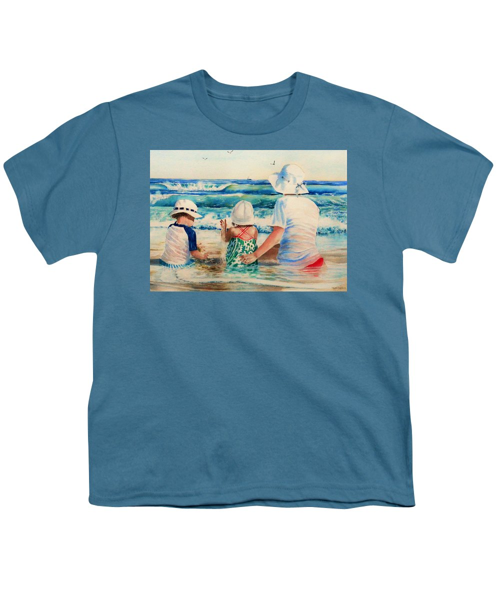 Beach Youth T-Shirt featuring the painting Low Tide by Tom Harris