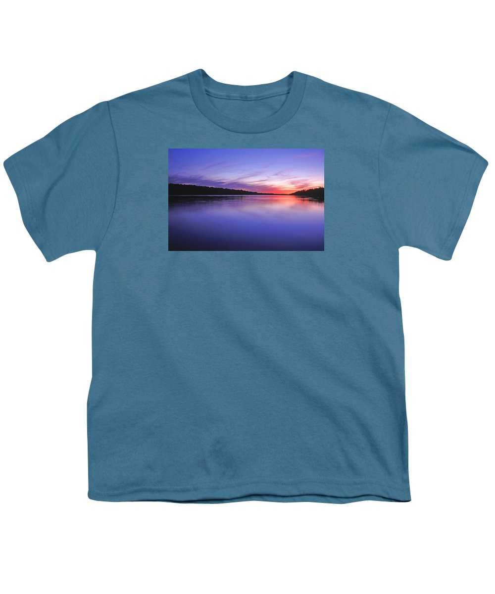 Landscape Youth T-Shirt featuring the photograph Manidooziibi by Bill Morgenstern