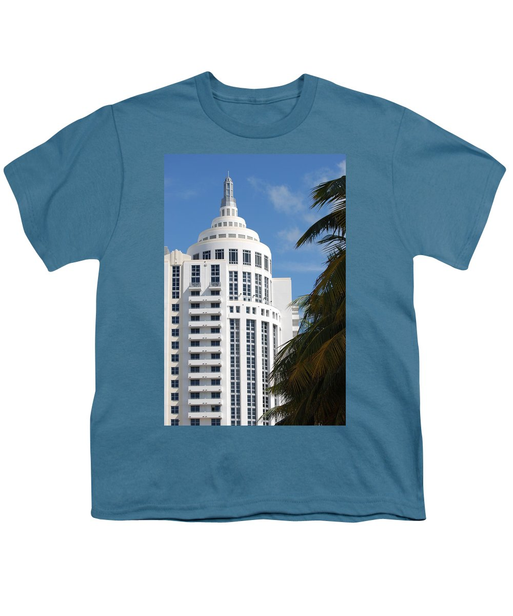 Architecture Youth T-Shirt featuring the photograph Miami S Capitol Building by Rob Hans