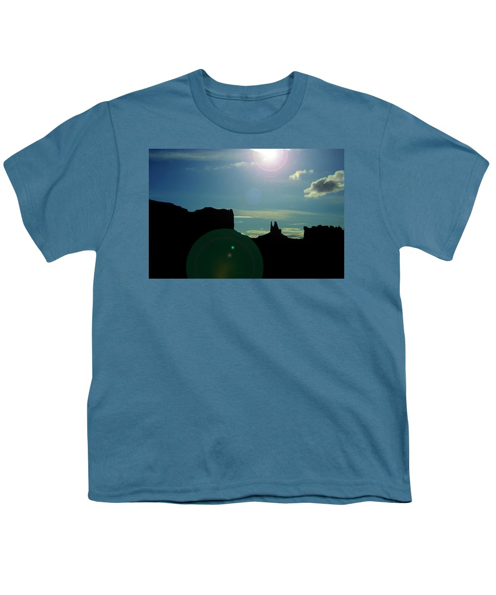 Monument Valley Youth T-Shirt featuring the photograph Monument Valley silhouette by Roy Nierdieck