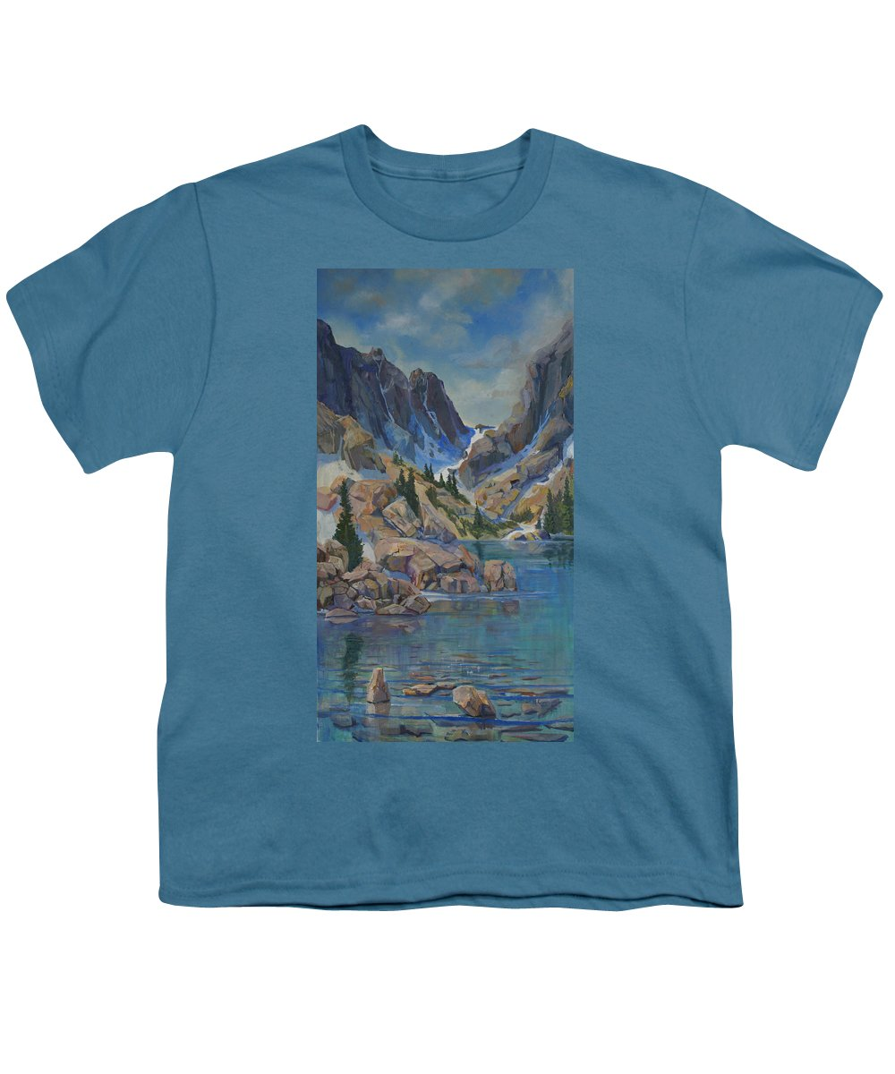 Hayden Spires Youth T-Shirt featuring the painting Near Hayden Spires by Heather Coen