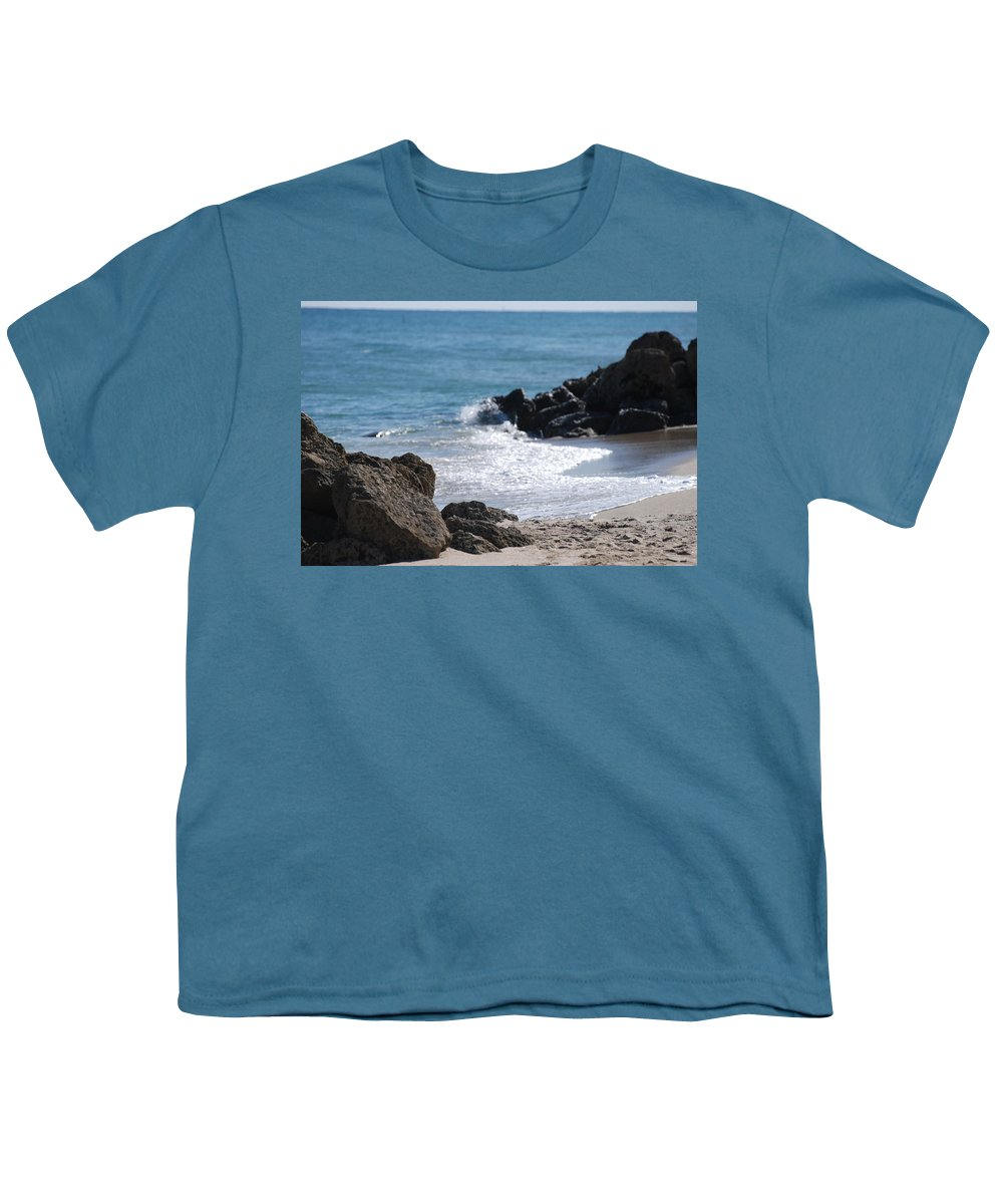 Sea Scape Youth T-Shirt featuring the photograph Ocean Rocks by Rob Hans