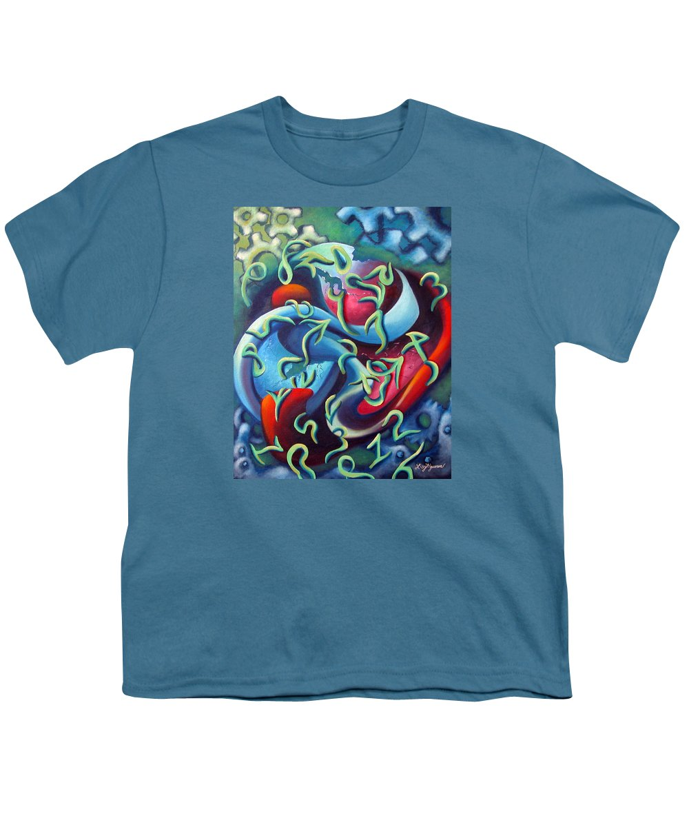 Clocks Youth T-Shirt featuring the painting Our Inner Clocks by Elizabeth Lisy Figueroa