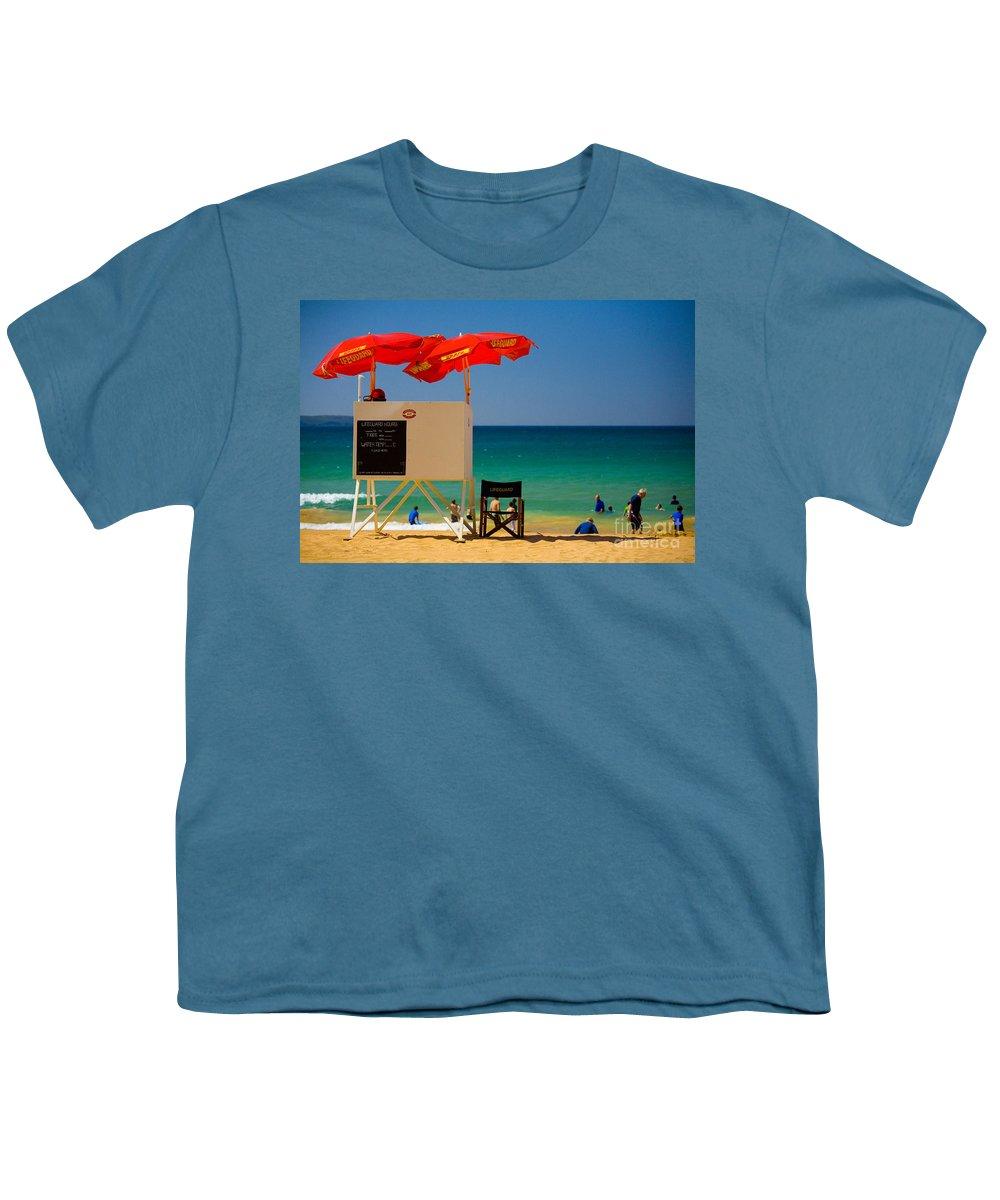 Palm Beach Sun Sea Sky Beach Umbrellas Youth T-Shirt featuring the photograph Palm Beach Dreaming by Sheila Smart Fine Art Photography