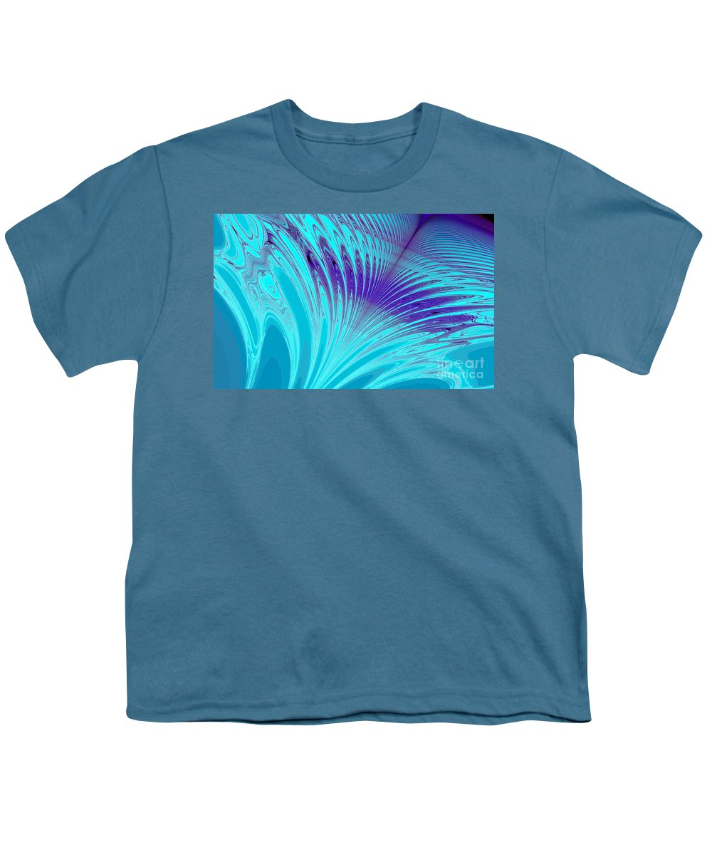 Clay Youth T-Shirt featuring the digital art Peacock by Clayton Bruster