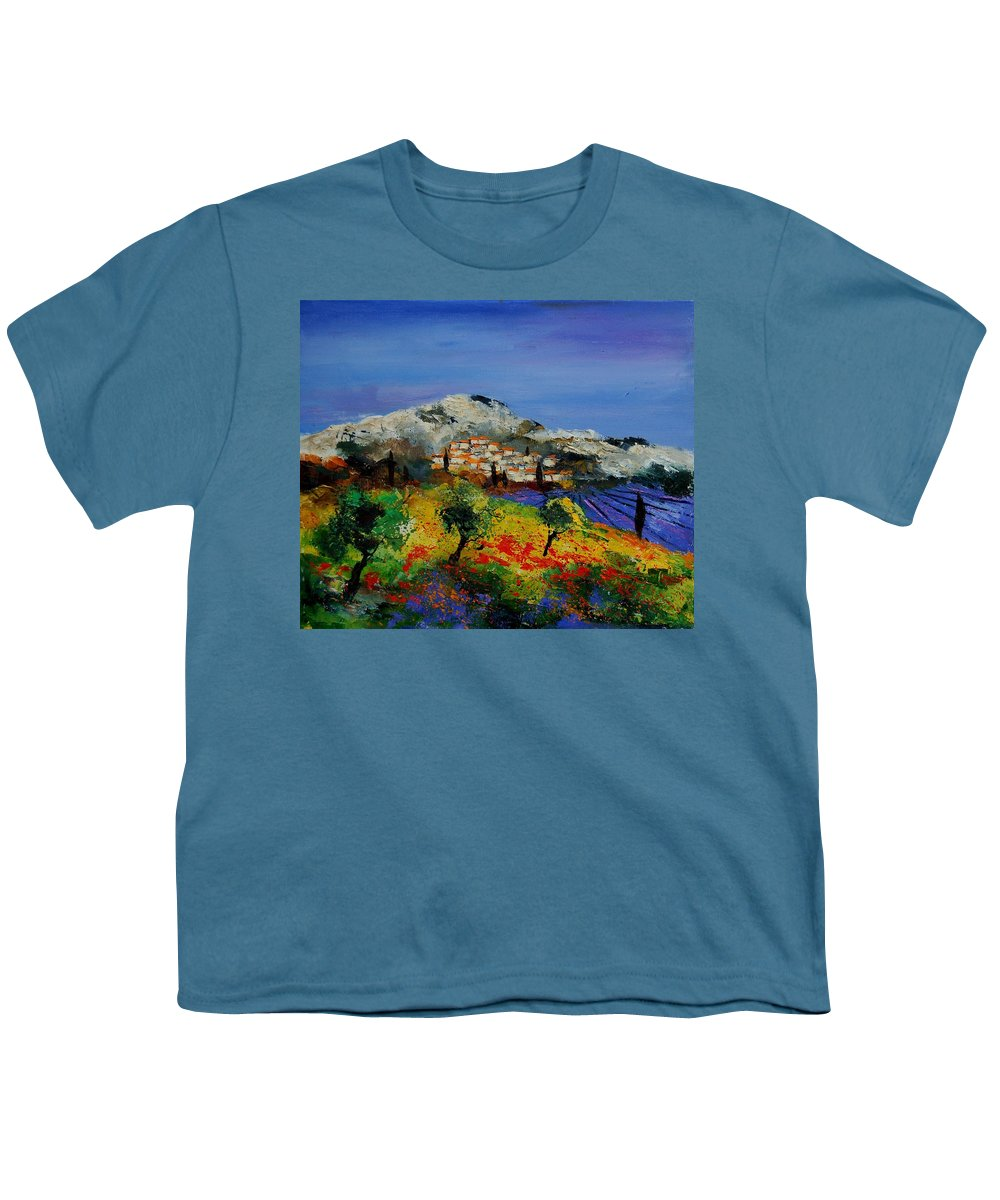Provence Youth T-Shirt featuring the painting Provence 569010 by Pol Ledent