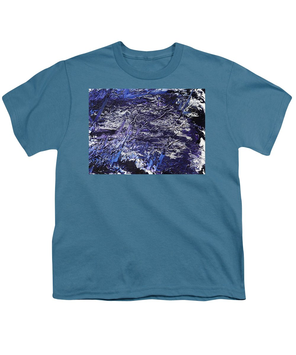 Fusionart Youth T-Shirt featuring the painting Rapid by Ralph White