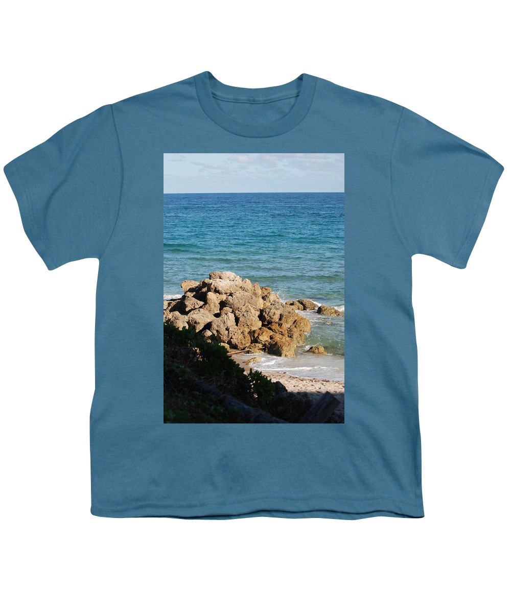 Sea Scape Youth T-Shirt featuring the photograph Rocky Shoreline by Rob Hans