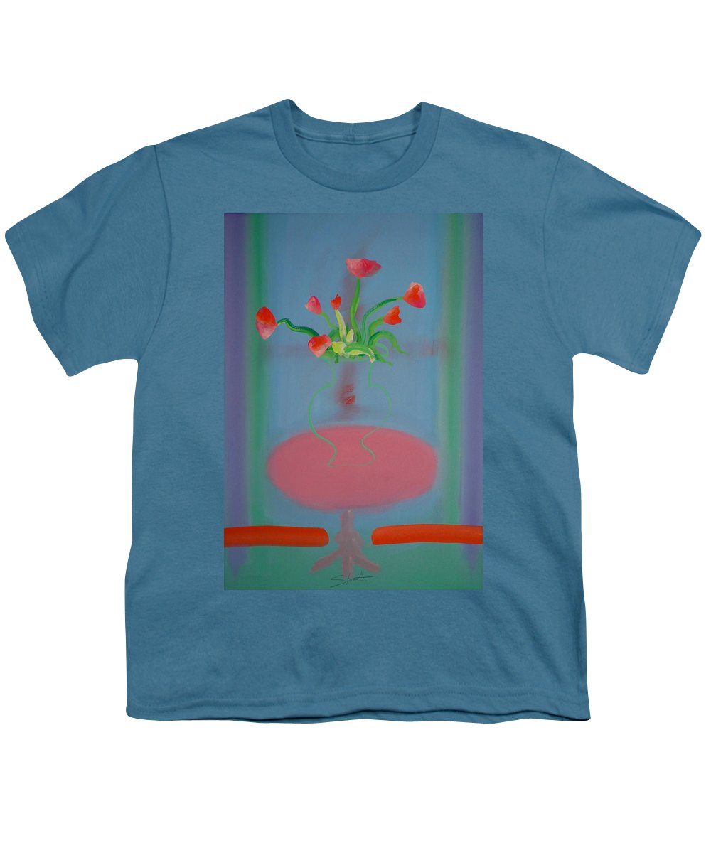 Flower Youth T-Shirt featuring the painting Rouseau Flowers by Charles Stuart